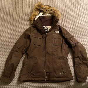 The North Face Snow Jacket with Fur Lined Hood